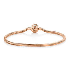 """17cm (7"""") Charm Bracelet with Diamonds in 10ct Rose Gold"""