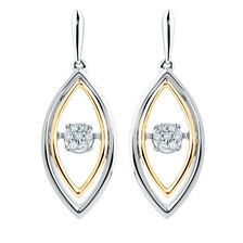Everlight Earrings with Diamonds in Sterling Silver & 10ct Yellow Gold
