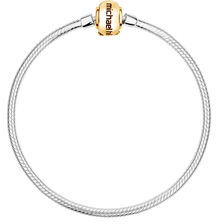 """10ct Yellow Gold & Sterling Silver 21cm (8.5"""") Charm Bracelet"""