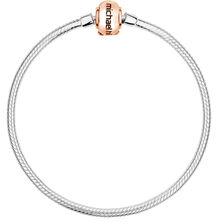 """10ct Rose Gold & Sterling Silver 19cm (7.5"""") Charm Bracelet"""