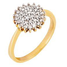 1/3 Carat of Diamonds 9ct Gold Cluster Ring