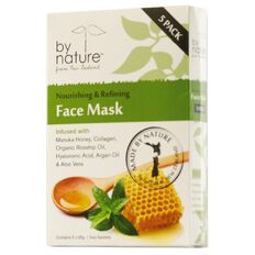 By Nature Face Mask Nourishing & Refining 25g 5 Pack