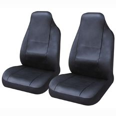 Auto FX Car Seat Cover Leather Look Front Pair High Back
