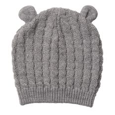 Hippo + Friends Baby Boy Infants' Cable Knit Beanie