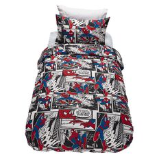 Spider-Man Duvet Cover Set Comic