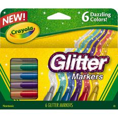 Crayola Glitter Markers 6 Pack