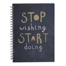 Stylo Wish Spiral Notebook A4