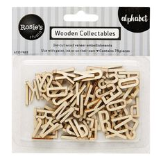 Rosie's Studio Wooden Collectables Alphabet 78 Piece