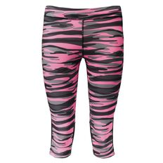 Active Intent Girls' Printed Splice Crop Pants