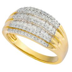 1/2 Carat of Diamonds 9ct Gold Diamond Fancy Channel Ring