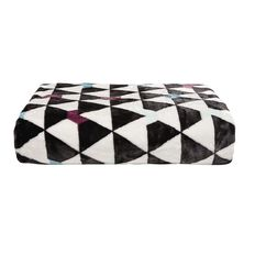 Elemis Blanket Mink Feel Chevron Black/White 200cm x 240cm Queen