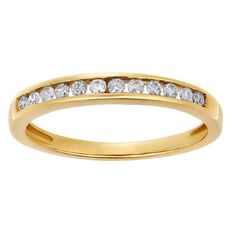 1/4 Carat of Diamonds 9ct Gold Diamond Channel Ring