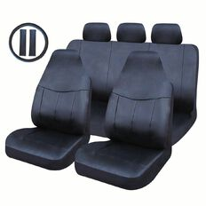 Auto FX Car Seat Cover Leather Look Value Set High Back