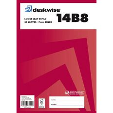 Deskwise Refill Pad 14B8 7mm Ruled 50 Leaf