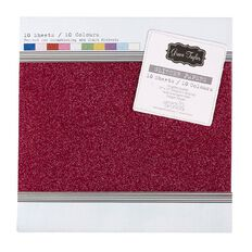 Grace Taylor Glitter Paper 12in x 12in 10 Sheets