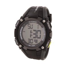 All Blacks Men's Multifunction LCD Watch Black
