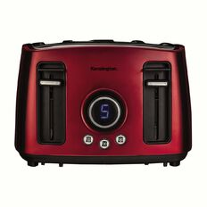 Kensington Toaster 4 Slice Digital Stainless Steel Red