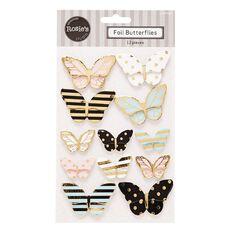Rosie's Studio Foil Butterflies 12 Piece