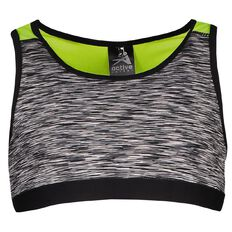 Active Intent Girls' Space Dyed Crop Top