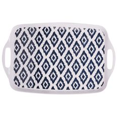 Living & Co Outdoor Tray Print Blue Large
