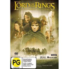 Lord of The Rings Fellowship Of The Ring DVD 1Disc