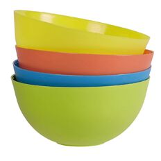 Necessities Brand Bowl 4 Piece Assorted Colours