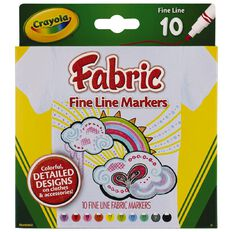 Crayola Fabric Markers 10 Pack