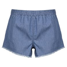 Garage Raw Hem Chambray Shorts
