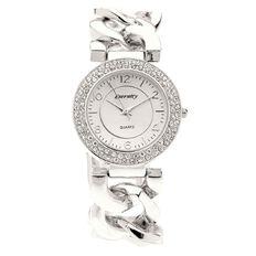 Eternity Women Chain Bracelet Watch Silver