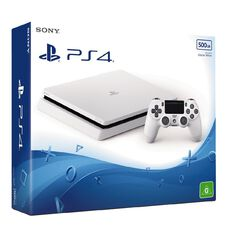 PS4 Console Slimline 500GB White