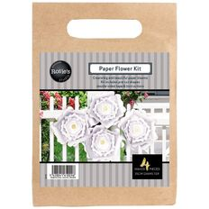 Rosie's Studio Paper Flowers Neutral 25cm 4 Piece