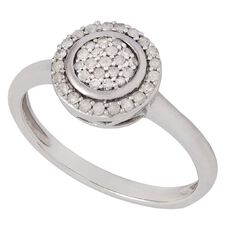 1/4 Carat of Diamonds Sterling Silver Round Ring