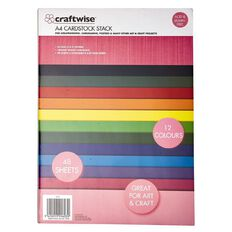 Craftwise Cardstock 12 Colours Assortment A4 180g 48 Sheets