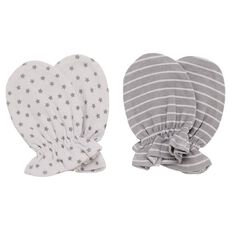 Hippo + Friends Baby Infants' Unisex Mittens 2 Pack