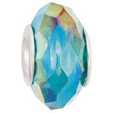 Ane Si Dora Sterling Silver Dark Green Glass Charm
