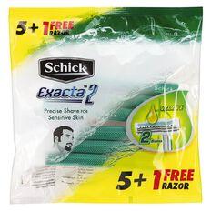Schick Exacta 2 Disposable Razor Sensitive 5 + 1 Free
