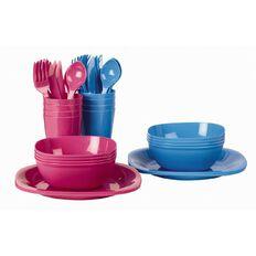 Picnic Set Blue or Pink 24 Piece