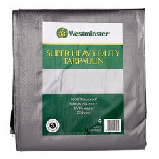 Westminster Tarpaulin Silver/Black 205gsm 12ft x 16ft
