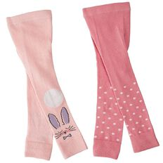 Hippo + Friends Girls' Footless Tights 2 Pack