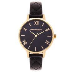 Pierre Cardin Ladies' Watch 5713 Gold with Black Strap