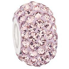Ane Si Dora Sterling Silver Light Purple Crystal Charm