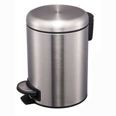 Living & Co Stainless Steel Slow Close Pedal Bin Silver 20L