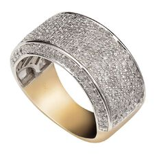 1 Carat of Diamonds 9ct Gold Pave Ring
