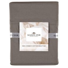 Maison d'Or Sheet Set 400 Thread Count Charcoal Super King