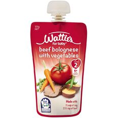 Wattie's Beef Bolognese with Vegetables Pouch 120g