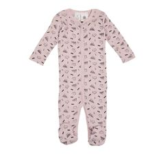 Hippo + Friends Baby Merino Print All-In-One