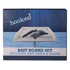 Hooked Boat Baitboard Set includes Filleting Knife and Glove