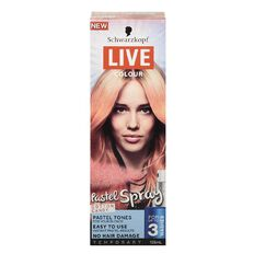 Schwarzkopf LIVE Colour Pastels Spray Candy Cotton 125ml