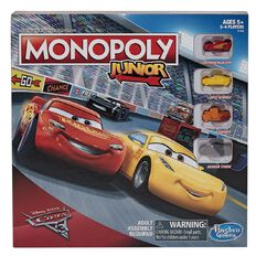 Disney Cars 3 Monopoly Junior Game