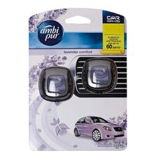 Ambi Pur Car Vent Clip Lavender 2 Pack